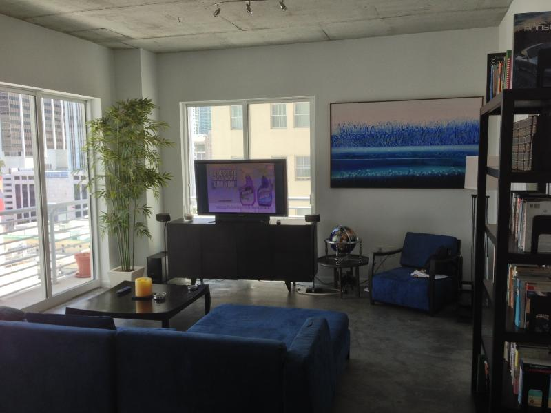 Living Room - Beautiful 2 BR/2 BA Loft with Parking - Coconut Grove - rentals