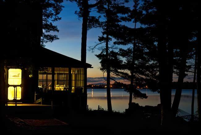 Pine Point at sunset - Maine lake ~ stunning sunrises ~ 5 private acre - Lincoln - rentals