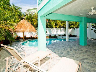 Pool Deck - Beachy Villa Vista-116 45th - Holmes Beach - rentals