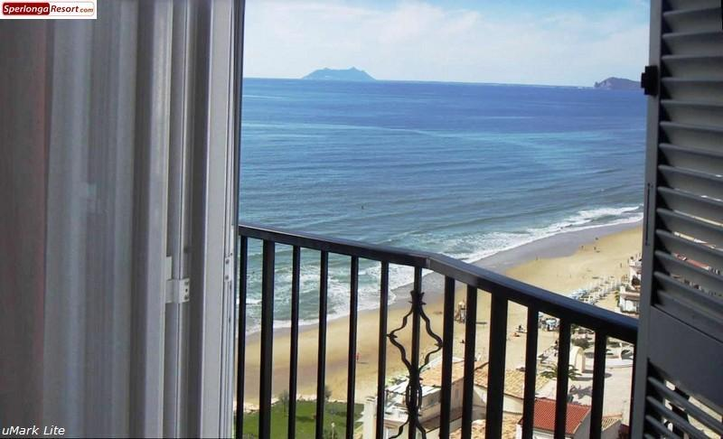 sea view panorama from tha bedroom's balcony - Casa Celeste, Sperlonga old town breathtaking sea view apartment - Sperlonga - rentals