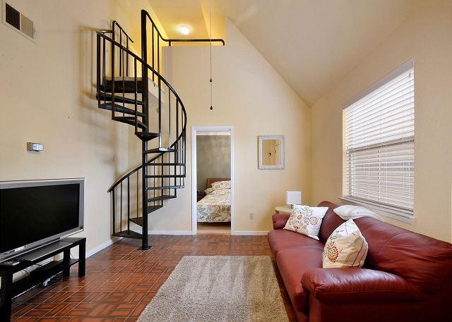 Living Area - Hip Downtown Condo with Loft – Minutes From History, Hiking and Dining - Austin - rentals