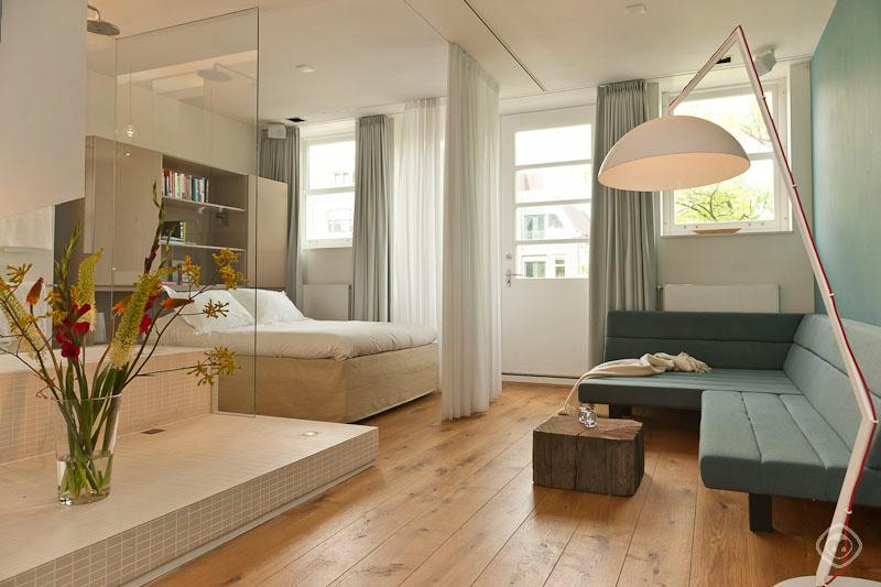 Double Bed And Living Area Branson Suite Amsterdam - Branson Suite apartment Amsterdam - Amsterdam - rentals