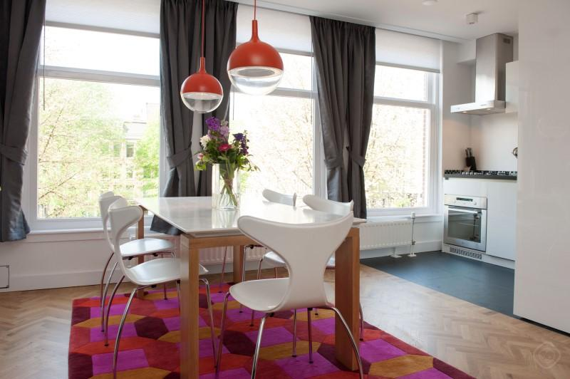Dining Area with Kitchen View Da Costa III Apartment Amsterdam - Da Costa III apartment Amsterdam - Amsterdam - rentals