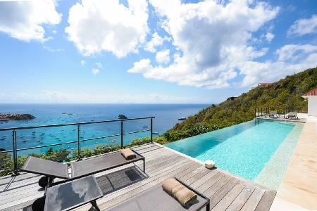 Private villa The View with ocean views, heated infinity pool & fitness room - Image 1 - Colombier - rentals