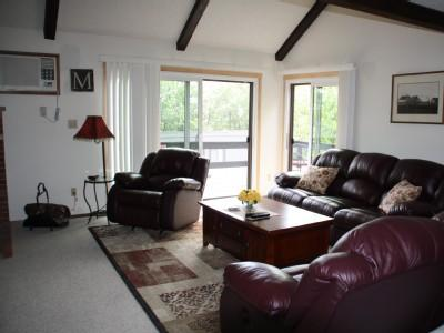 Living room, plenty of sunlight - Beautiful Camelback Townhouse ski on/off - Tannersville - rentals