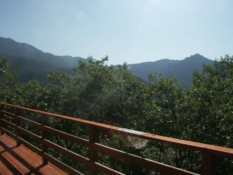 View from side deck - Beautiful view of the San Jacinto Mtns Overlooking Idyllwild CA - Idyllwild - rentals