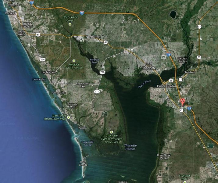 PUNTA GORDA MAP - Florida Gulf Coast Home (Punta Gorda) 2BR 1BA - Punta Gorda - rentals