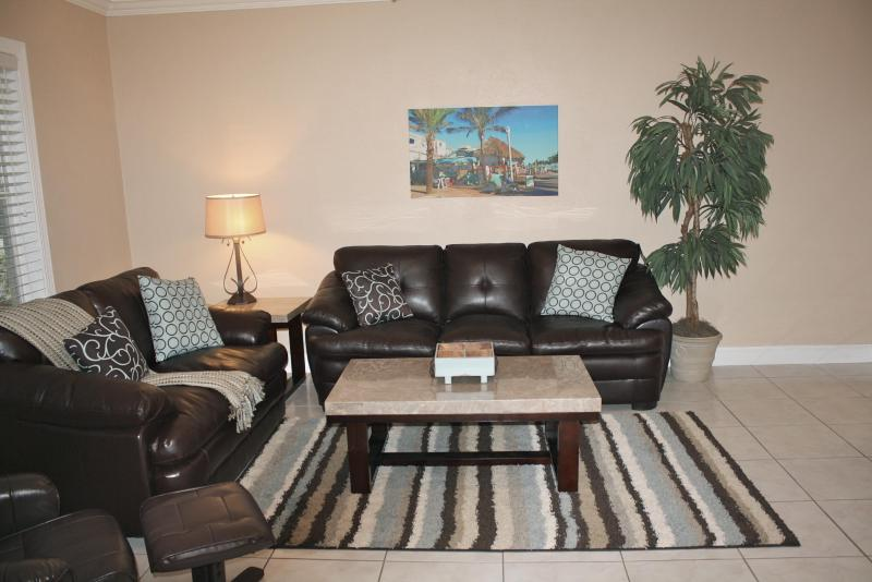 Spacious living room with queen size sleeper sofa - New & Luxurious,  Modern 1st floor condo at Boardw - Hollywood - rentals