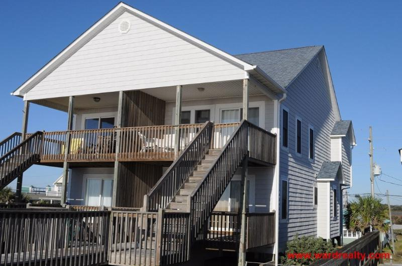 Oceanfront Exterior - Gorgeous 4BR, Oceanfront, Spectacular Ocean Views - And Y Knot - Surf City - rentals