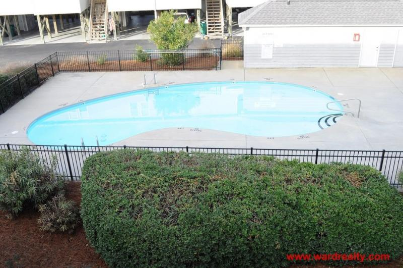 View of Swimming Pool from Top Deck - The Turtle Nest - Surf City - rentals