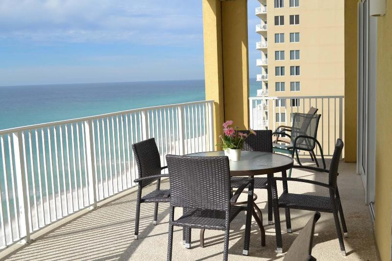 HUGE Balcony/Lots of furniture to enjoy the awesome views! - MaSTeR On GuLF! FRee WiFi! *Low rates & warm* - Panama City Beach - rentals