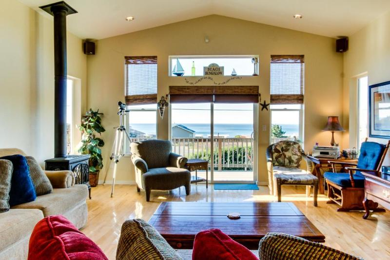 Incredible oceanview home with private hot tub & outdoor firepit await - Image 1 - Yachats - rentals