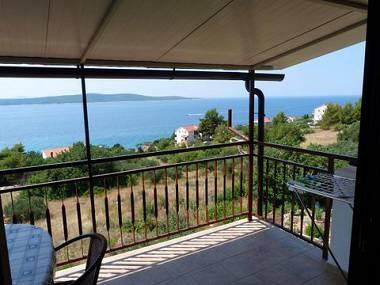 Nina(2+1): terrace view - 00603ZAVA Nina(2+1) - Zavala - Zavala - rentals