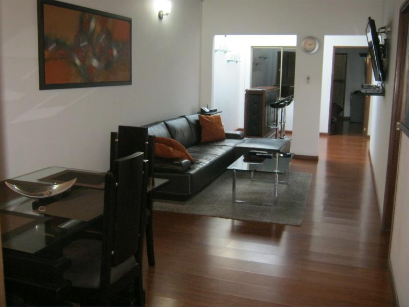 3 bedroom with AC in living room Lleras Terrace - Image 1 - Medellin - rentals