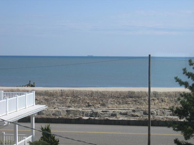 Ocean view from Bedroom - Renovated Beach Block Condo - Off-season & Summer - Cape May - rentals