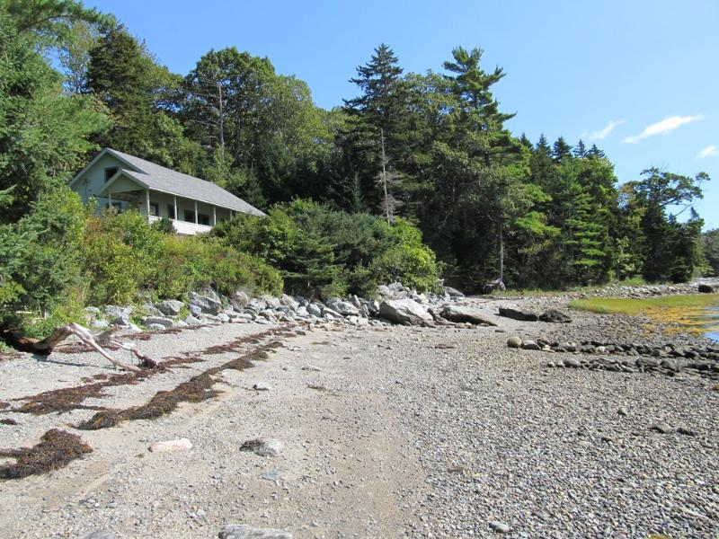View of cottage from the waterfront. - Abby Lane Cottage - Cranberry Isles - rentals