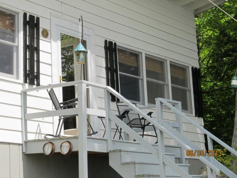 Front porch overlooking the water. - Green Lake Cottage - Cranberry Isles - rentals
