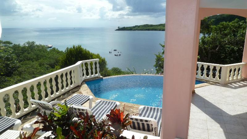Private pool overlooking the Caribbean - Absolutely Private Water Front 4BR/3BA Dream Home - Roatan - rentals
