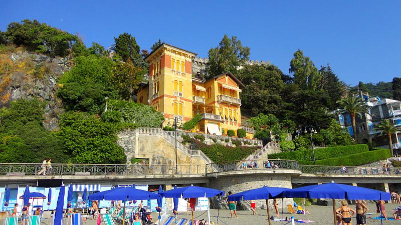 Seafront vacation villa Ambra for rent in Levanto Liguria - Prominent seaside villa on the beach promenade! - Levanto - rentals