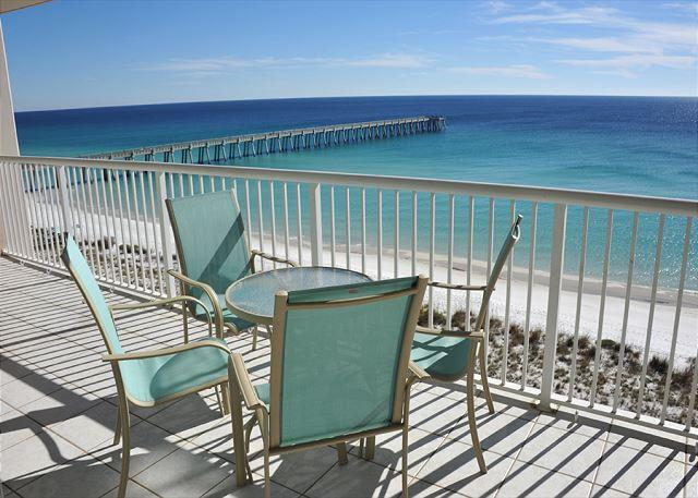 balcony view - Fall Special! Only $130/nt! Gulf-front 2/2 Navarre Regency! - Navarre - rentals