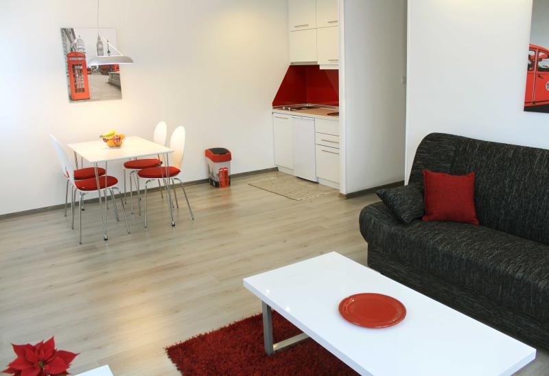 Open plan layout with living and dining area - New, modern apt. close to all major sights - Red - Sarajevo - rentals