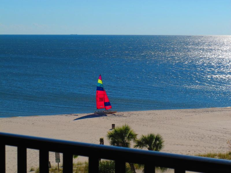 Private balcony view - Pass Christian Top Floor Beachfront Condo--NO FEES - Pass Christian - rentals