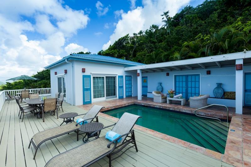 Deck and pool view - Moonlight - Saint Thomas - rentals