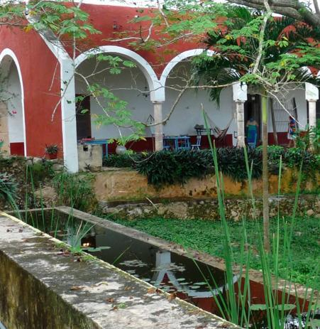 The veranda as seen from the aqueduct - Your Private Estate Near Mayan Ruins - Abala - rentals