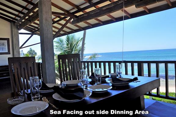 Open & Large Terrace with dining table. - An Exotic 2 BR Holiday Apartment in Hikkaduwa - Hikkaduwa - rentals