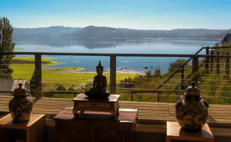 Terrace view from living room - South Chilean Patagonia, House for Rent (Chiloe) - Castro - rentals