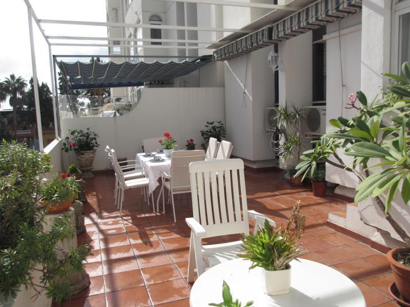 Terrace - Beach El Palo, WIFI, garage, Big terrace, A/A - Olias - rentals