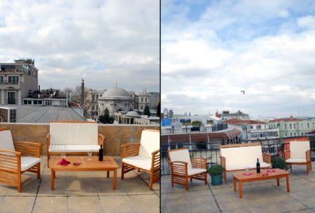 private terrace with view - SULTANAHMET SQUARE APARTMENT WITH AMAZING TERRACE - Istanbul - rentals