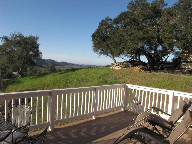 Enjoy morning coffee & evening wine on patio with views of ocean and countryside - Quiet Country-Coastal Cottage - Arroyo Grande - rentals