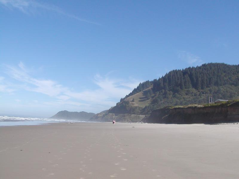 """Majestic Searose Beach""  Standing at base of steps. - Oceanfront Searose Beach ""Searose Beach House"" - Yachats - rentals"