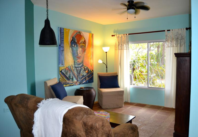 Living Room with View of Gardens and Pacific - Reduced Artsy Cottage Bouquete 5 mins to town - Boquete - rentals