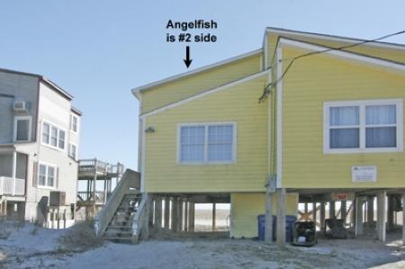 Street side of Angelfish - 'Angelfish - North Topsail Beach - rentals