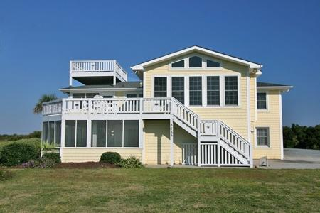 Streetside view of home - 'Sunny Side Up - North Topsail Beach - rentals