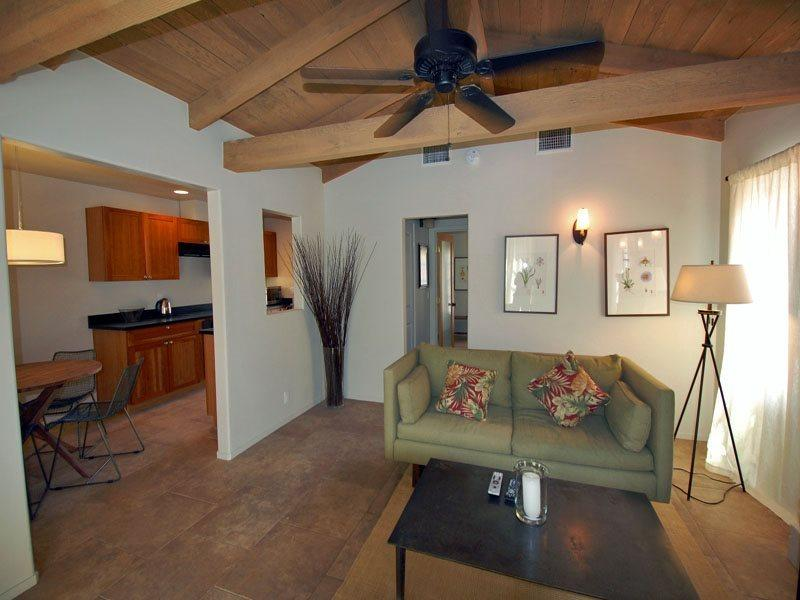 Living Room in Unit 3 - Spanish Villa One Bedroom #3 - Palm Springs - rentals