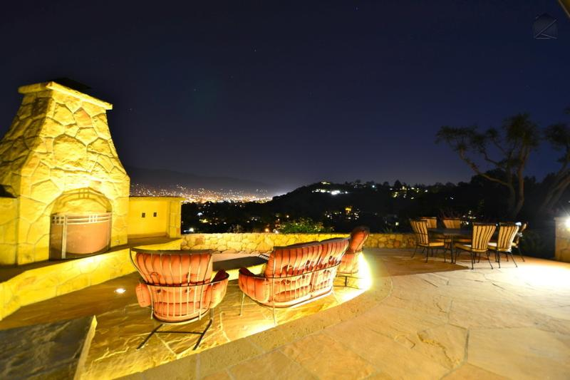 At night, watch the city below light up for an amazing spectacle. - Spacious city view home on Mesa has an outdoor firepit and avocado orchard - Mira Vista Retreat - Santa Barbara - rentals
