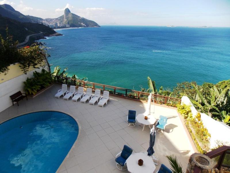 Piscina com Vista - OCEANFRONT 6 SUITES LUXURY HOUSE IN RIO ! - Rio de Janeiro - rentals