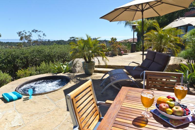 Dine alfresco, soak in the hot tub, lounge in the sun or shade - Amazing Ocean View Paradise Cottage, deck + Hot Tub, 31+ night min. contract - Santa Barbara - rentals
