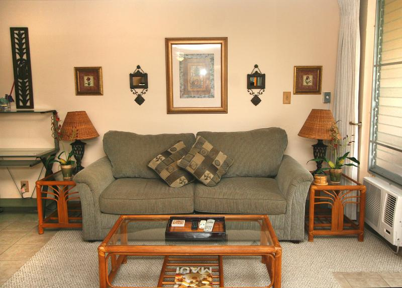 Queen Size Sofa Bed - Kihei Kai Nani 162, 1BR condo, Cal King, WiFi, A/C - Kihei - rentals