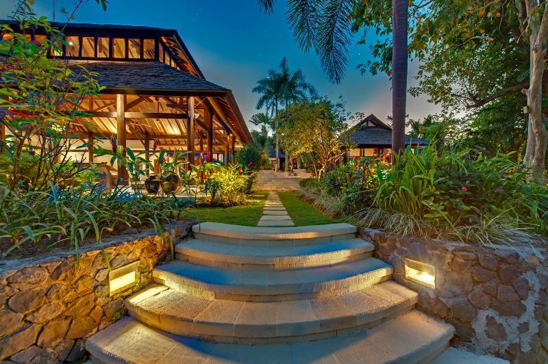 stairs leading from pool to living room - Sakova Villa 0180 Canggu 3 Bedroom - Canggu - rentals