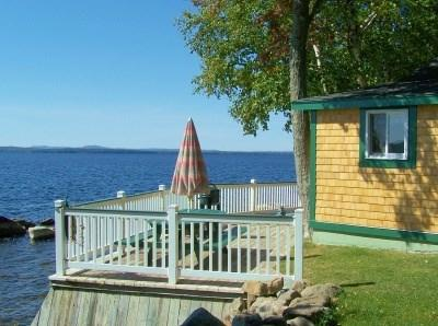 Moosehead Lake Cottage only 6 feet from waters edge - #109 Moosehead Lake cottage with a deck literally `on the water` - Greenville - rentals