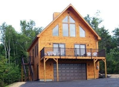 Front Exterior View - #203 Brand-new hillside cabin - Greenville - rentals