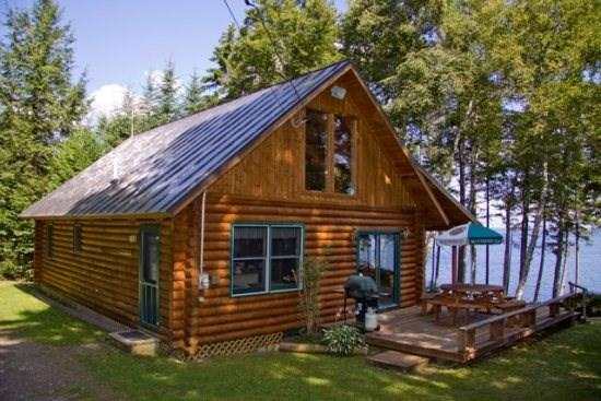 Side Exterior View - 155 Picturesque Cabin on Moosehead Lake - Rockwood - rentals