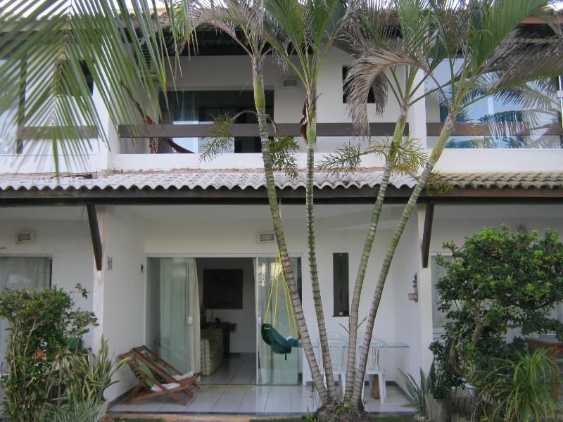Pool-Side View - BEACHFRONT Townhouse, 3 Bedroom, 3.5 Bath, Flamengo Beach, Salvador, Brazil - Salvador - rentals