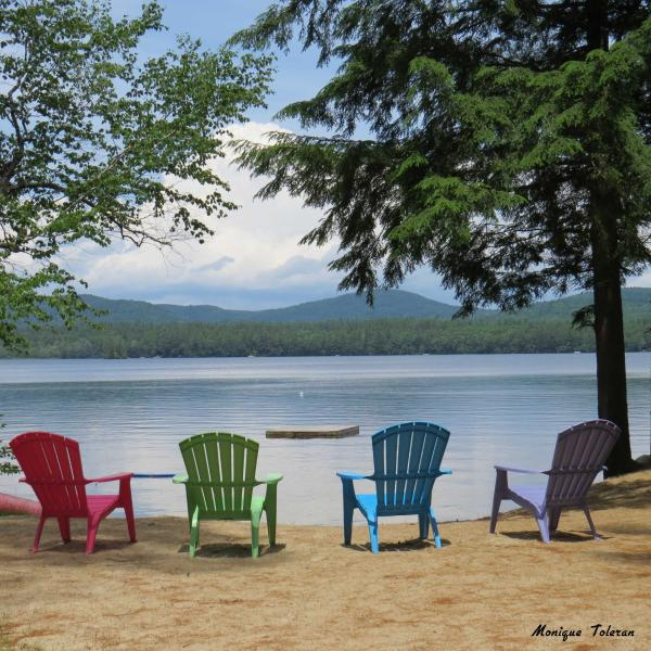 Beach and lake - Glamping Plus!  Lovely, rustic lakefront cabin! - North Bridgton - rentals