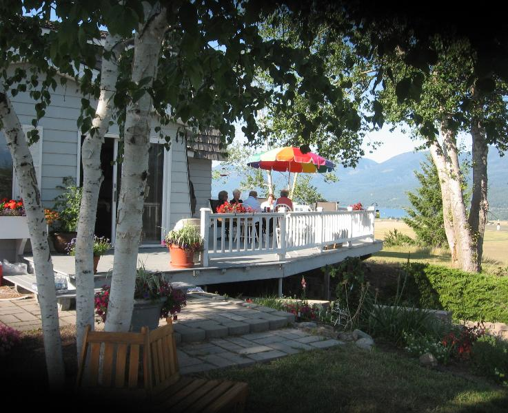 Side deck views Flathead Lake and Missions - Jawdropping Polson Panorama/ Flathead Lake Charm - Polson - rentals