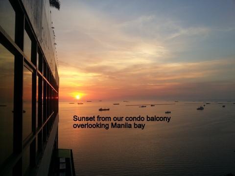 Manila bay sunset - Spectacular Manila Bay Views 1 bedroom condo - Manila - rentals